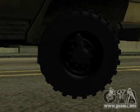 Ural 4320 Armenian para vista inferior GTA San Andreas