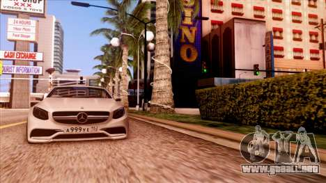 Mercedes-Benz S63 para GTA San Andreas vista posterior izquierda