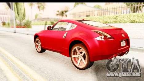 Nissan 370Z 2010 para GTA San Andreas left