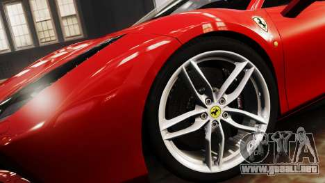 Ferrari 488 GTB 2016 para GTA 4 Vista posterior izquierda