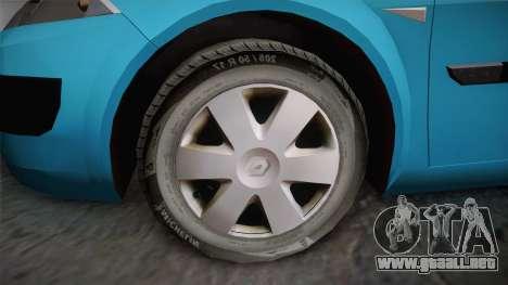 Renault Megane 2 Hatchback v2 para la visión correcta GTA San Andreas