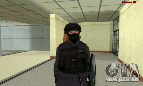 La piel de SWAT GTA 5 para GTA San Andreas séptima pantalla