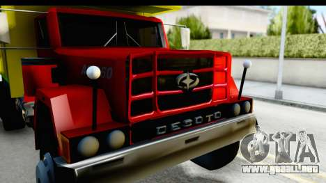 Desoto AS 950 para GTA San Andreas vista hacia atrás