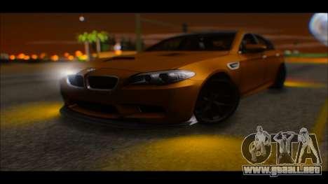 BMW M5 F10 2014 para la visión correcta GTA San Andreas