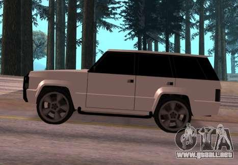 Huntley Rover para GTA San Andreas left