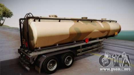 GTA 5 Army Tank Trailer IVF para GTA San Andreas left
