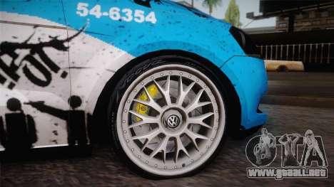 Volkswagen Voyage G6 Pmerj Graffiti para la visión correcta GTA San Andreas