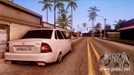 Lada Priora Autozvuk v.2 para GTA San Andreas left