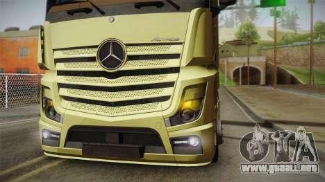 Mercedes-Benz Actros Mp4 6x4 v2.0 Steamspace para la visión correcta GTA San Andreas