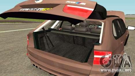 BMW X5M para la vista superior GTA San Andreas