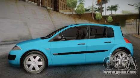 Renault Megane 2 Hatchback v2 para GTA San Andreas vista posterior izquierda