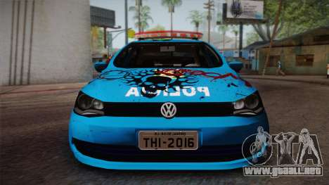 Volkswagen Voyage G6 Pmerj Graffiti para GTA San Andreas vista posterior izquierda