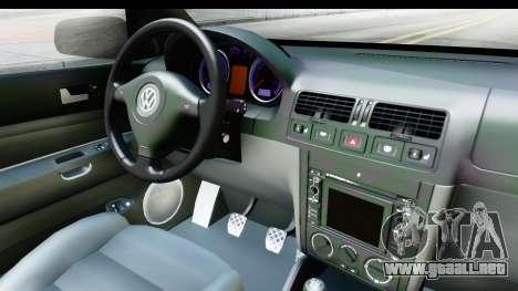 Volkswagen Golf Mk4 Pickup para visión interna GTA San Andreas
