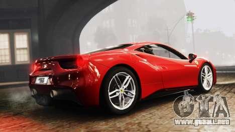 Ferrari 488 GTB 2016 para GTA 4 left