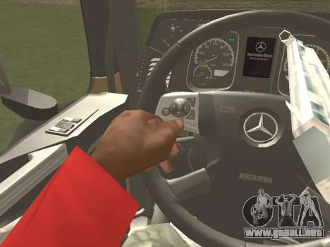 Mercedes-Benz Actros Mp4 4x2 v2.0 Steamspace para visión interna GTA San Andreas