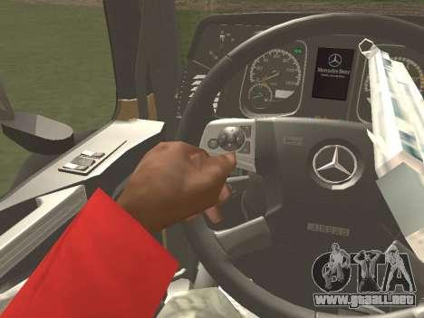 Mercedes-Benz Actros Mp4 6x4 v2.0 Bigspace para la visión correcta GTA San Andreas