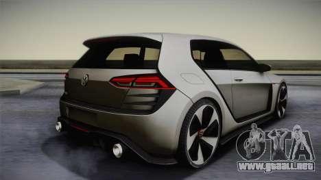 Volkswagen Golf Design Vision GTI para GTA San Andreas left