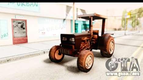 Modern Tractor para GTA San Andreas vista posterior izquierda