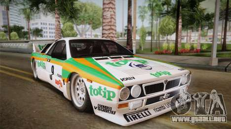Lancia Rally 037 Stradale (SE037) 1982 Dirt PJ2 para GTA San Andreas vista posterior izquierda
