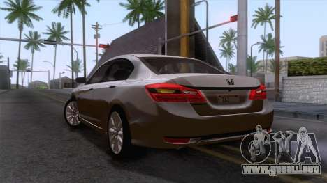 Honda Accord 2017 Stock para GTA San Andreas left