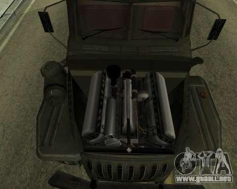Ural 4320 Armenian para visión interna GTA San Andreas