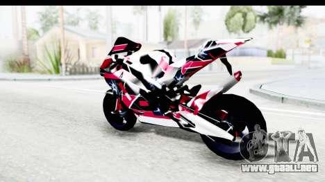 Dark Smaga Motorcycle with Frostbite 2 Logos para GTA San Andreas left