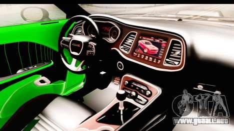 Dodge Challenger F&F 7 para visión interna GTA San Andreas
