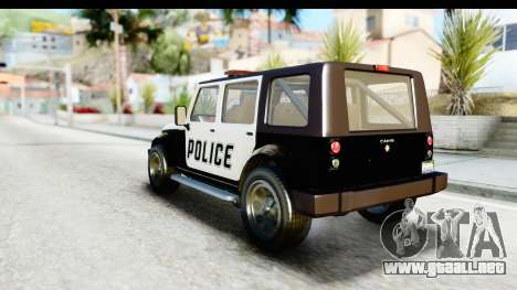 Canis Mesa Police para la visión correcta GTA San Andreas