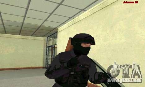 La piel de SWAT GTA 5 para GTA San Andreas sucesivamente de pantalla