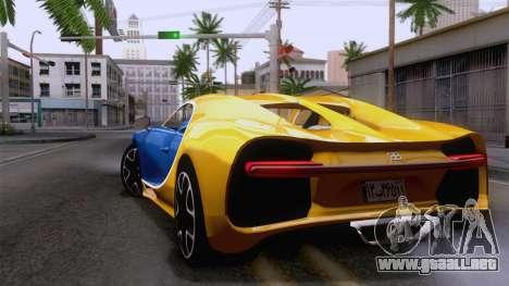 Bugatti Chiron 2017 v2.5 para GTA San Andreas left