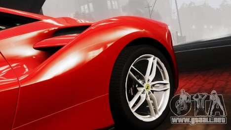 Ferrari 488 GTB 2016 para GTA 4 visión correcta