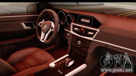 Mercedes-Benz E63 AMG para visión interna GTA San Andreas