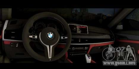 BMW X6M F86 para la visión correcta GTA San Andreas