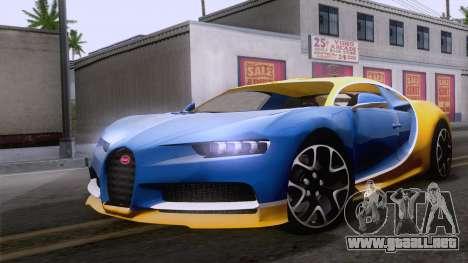 Bugatti Chiron 2017 v2.5 para GTA San Andreas