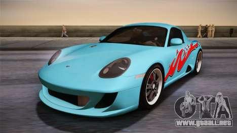 Ruf RK Coupe (987) 2007 HQLM para GTA San Andreas vista posterior izquierda