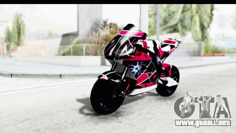 Dark Smaga Motorcycle with Frostbite 2 Logos para GTA San Andreas