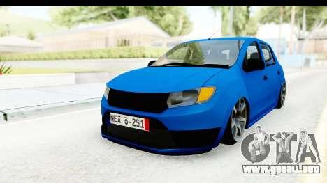 Dacia Sandero 2013 para la visión correcta GTA San Andreas