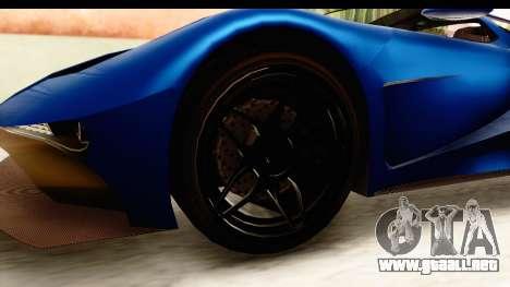 GTA 5 Vapid FMJ SA Style para GTA San Andreas vista hacia atrás