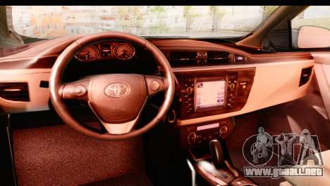 Toyota Corolla 2014 IVF para visión interna GTA San Andreas