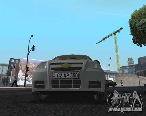Chevrolet Aveo Armenian para vista lateral GTA San Andreas