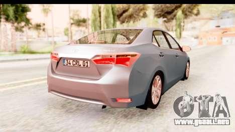 Toyota Corolla 2014 IVF para GTA San Andreas left