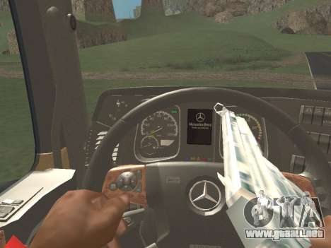 Mercedes-Benz Actros Mp4 4x2 v2.0 Gigaspace v2 para visión interna GTA San Andreas