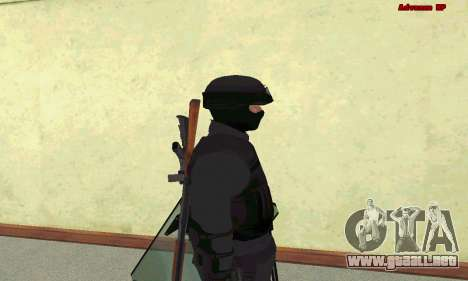 La piel de SWAT GTA 5 para GTA San Andreas quinta pantalla