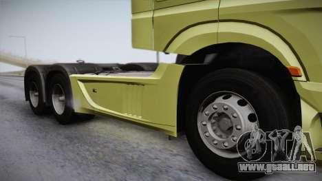 Mercedes-Benz Actros Mp4 6x4 v2.0 Steamspace para GTA San Andreas vista posterior izquierda