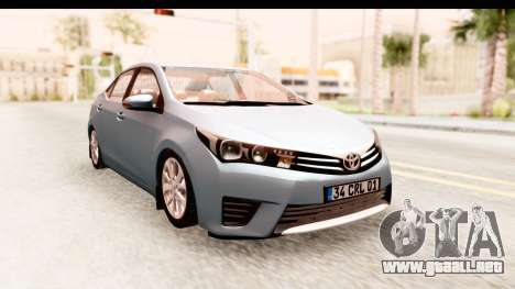 Toyota Corolla 2014 IVF para GTA San Andreas vista posterior izquierda