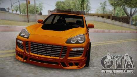 Porsche Cayenne 2007 Tuning para la visión correcta GTA San Andreas
