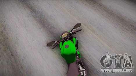 Kawasaki Z1000 2013 para la visión correcta GTA San Andreas