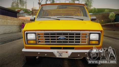 Ford E-150 Commercial Van 1982 2.0 IVF para la visión correcta GTA San Andreas