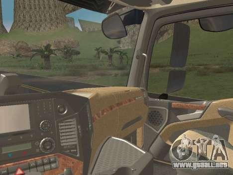 Mercedes-Benz Actros Mp4 6x4 v2.0 Steamspace v2 para vista inferior GTA San Andreas