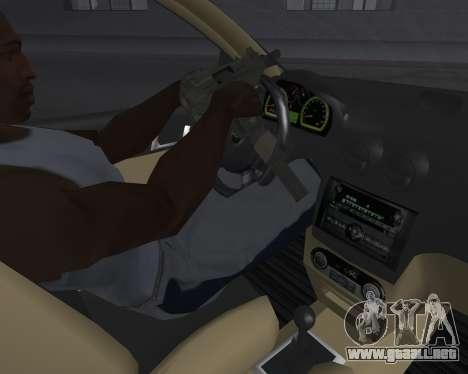Chevrolet Aveo Armenian para la vista superior GTA San Andreas